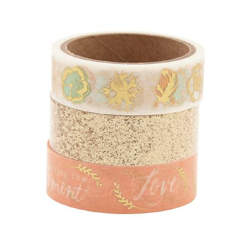Uniti Washi Tape Blush/Gold 3 Pack