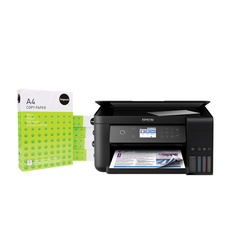 Buy 1 Epson EcoTank ET-3700 Multifunction Printer, get 5 Impact Copypaper A4 White 80gsm 500 Sheet Reams for FREE