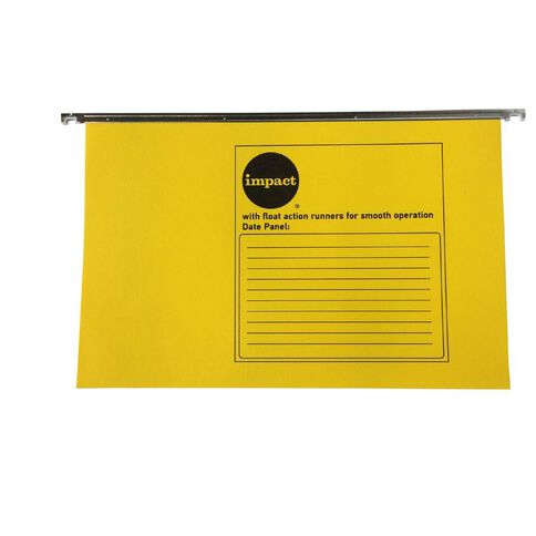 Impact Suspension File 10 Pack Yellow