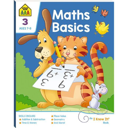Maths Basics 3 I Know It Book (7-9yrs) by School Zone