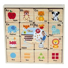 First Learning Wooden Learning Puzzle with Case