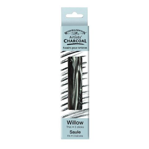 Winsor & Newton Thin 3 Sticks Charcoal