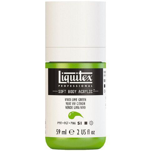 Liquitex Soft Body Acrylic 59ml Vivid Lime Green S1