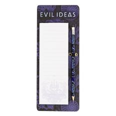 Disney Villains Shopping List With HB Pencil