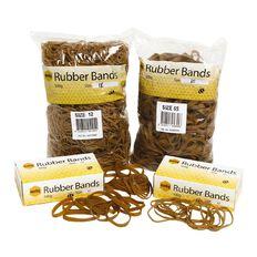 Marbig Rubber Bands 100g Pocket #14 Brown
