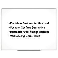 Boyd Visuals Porcelain Whiteboard 900 x 1200mm White