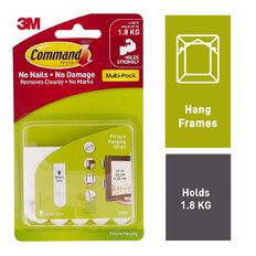 Command Picture Hanging Strips Value Pack White Small