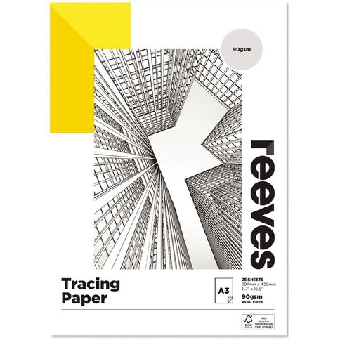 Reeves Tracing Pad 90gsm A3