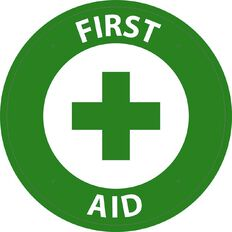WS First Aid Circle Sign Large 600mm x 600mm