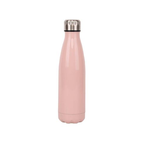 Living & Co Stainless Steel Drink Bottle Pink 500ml
