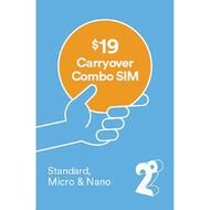 2degrees $19 Carryover Combo SIM Blue