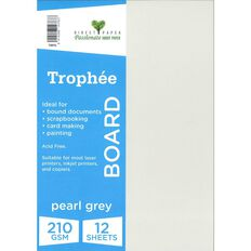 Trophee Board 210gsm 12 Pack Pearl Grey A4