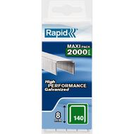Rapid Staples 140/8 2000 Pack Silver