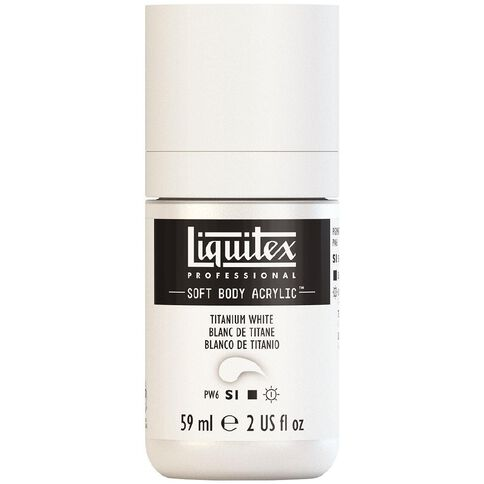 Liquitex Soft Body Acrylic 59ml Titanium White S1