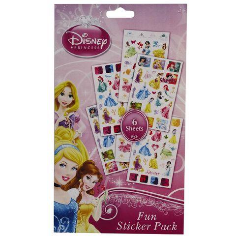 Disney Princess Sticker Book 6 Page