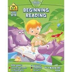 I Know It Workbook Beginning Reading (6-8) by Schoolzone