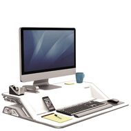 Fellowes Lotus Sit Stand Desk White
