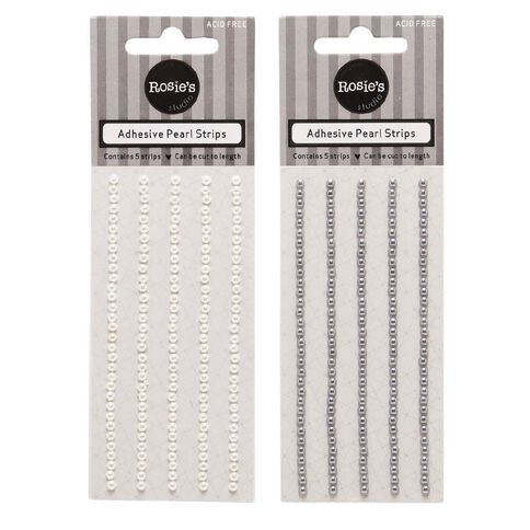 Rosie's Studio Mini Pearl Strips Assorted 5 Pack