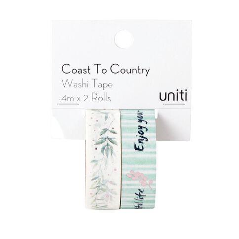 Uniti Coast to Country Washi Tape 2 pack Design 1