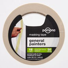 Pomona Masking Tape General Purpose White 18mm x 50m