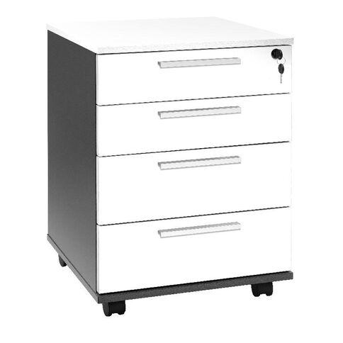 Jasper J Emerge Mobile 4 Drawer White/Ironstone