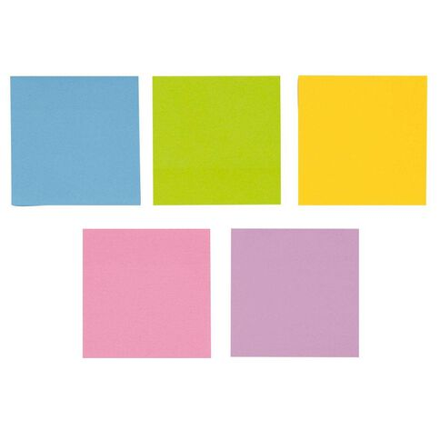 WS Fluro Sticky Notes 76mm x 76mm 5 Pack