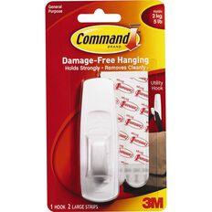 Command Large Hook White