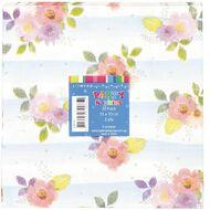 Artwrap Printed Napkins Floral Stripes 2 ply 33cm x 33cm 20 Pack