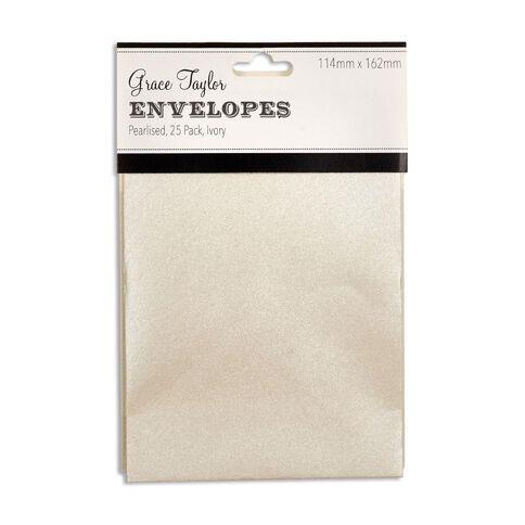 Grace Taylor Envelopes Ivory C6 25 Pack White