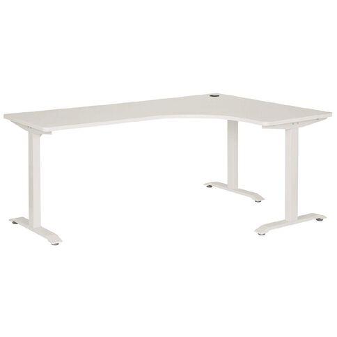 Jasper J Emerge Metal Leg Workstation 1800 x 1200 RH White/White