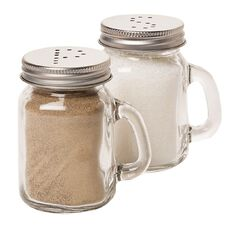 Living & Co Bistro Glass Salt & Pepper Shaker Set