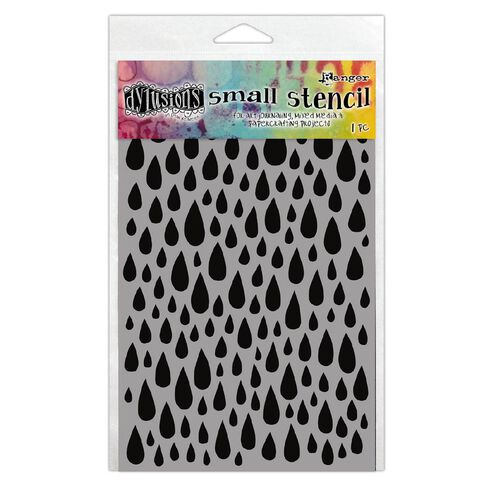 Ranger Dylusions Stencil Small Teardrops