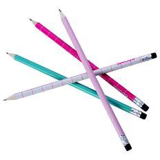 Kookie Checked Pencil 4 Pack Pink