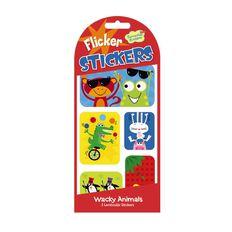 Peaceable Kingdom Stickers Flicker Wacky Animals