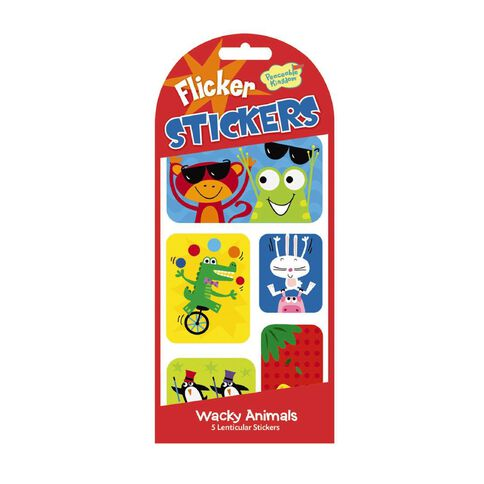Peaceable Kingdom Stickers Flicker Wacky Animals