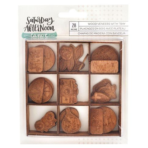 Saturday Afternoon Wood Embellishments 28 Piece