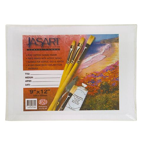 Jasart Canvas Board 9 x 12 White