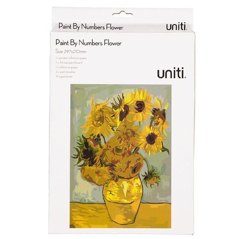 Uniti Paint by Numbers A4 Sunflowers