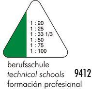 Standardgraph 9412 Tri Scale Ruler Tech School Clear