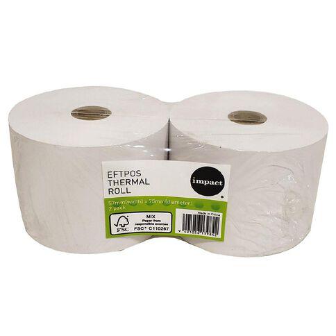 Impact Eftpos Roll Thermal 57 x 75 2 Pack