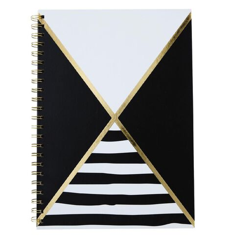 Uniti Black&Gold Spiral Notebook A4