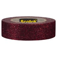 Scotch Craft Glitter Tape 15mm x 5m Red