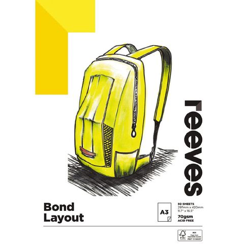 Reeves Bond Pad 70gsm A3