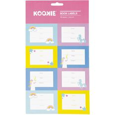Kookie Book Labels Unicorn 16 Pack