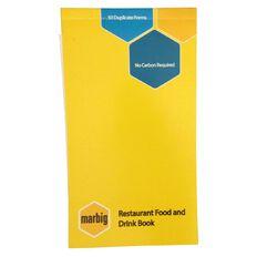 Marbig Restaurant Order Book 50 Leaf Yellow