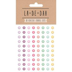 La De Dah Enamel Dots 80 Pack Multi-Coloured