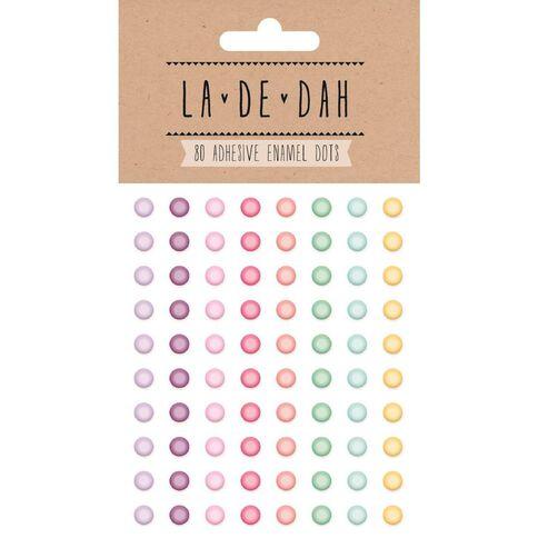 La De Dah Enamel Dots 80 Pack Multi-Coloured