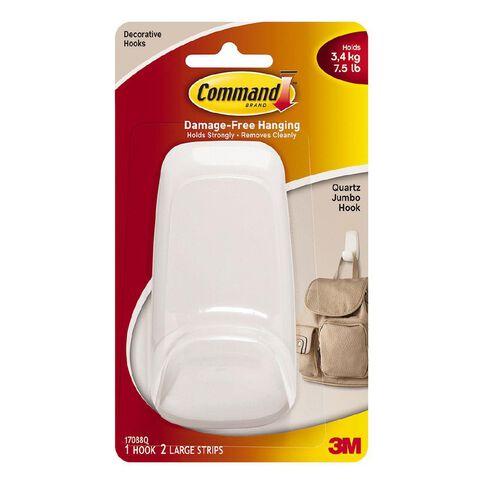 Command Quartz Hook White Jumbo