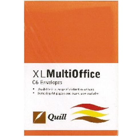 Quill Multioffice Envelopes C6 25 Pack Orange
