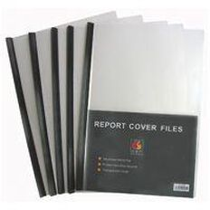 GBP Stationery Report Covers 5 Pack Black A4